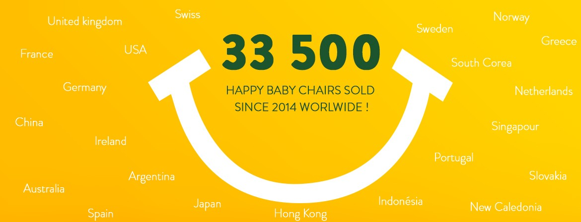 happy baby chair STACKABLE